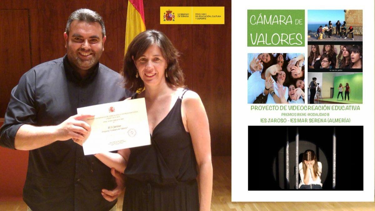 Recibimos el Premio Nacional «Irene» del Ministerio de Educación
