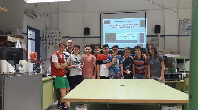 Finaliza el Proyecto Andalucía Profundiza 2018: Impresión 3D de un minidron controlado por realidad virtual