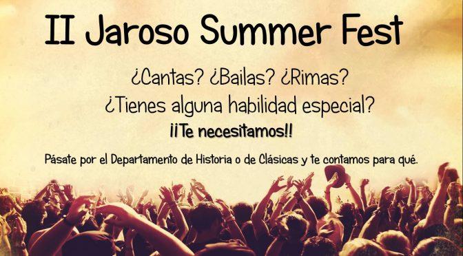 El II Jaroso Summer Fest os necesita